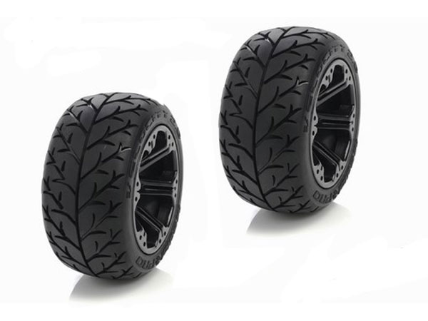 Medial Pro Velocity Tyres, Addict 2.8 Wheels, Blk, Fr GP, 1/10 St Truck 5x11 Bearing (2) G-MP5515