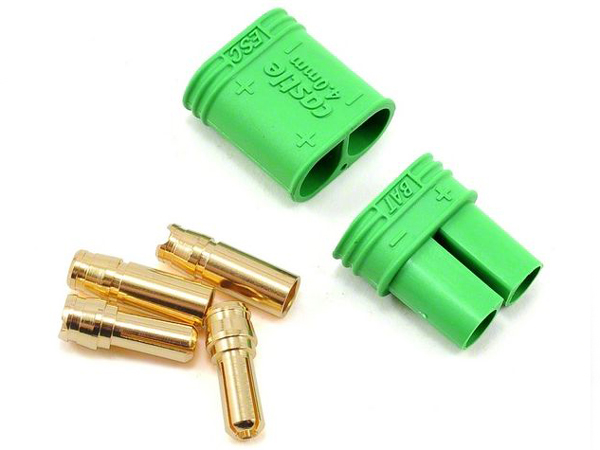 Castle Polarized Bullet Connectors Male & Female 6.5mm Set (Green) GC065CCP
