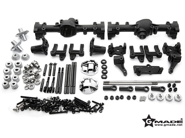 GMade R1 Front And Rear Portal Axle Set GM51100