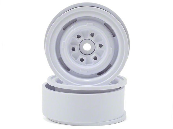GMade 1.9 VR01 Beadlock Wheels (2) White GM70106