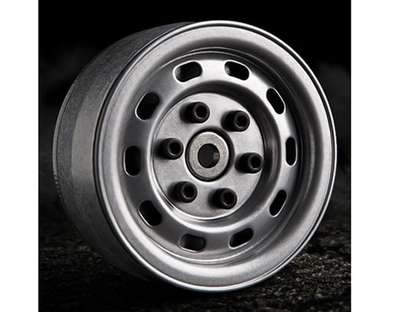 GMade 1.9 Sr02 Beadlock Wheels Semi Gloss Silver (2) GM70172