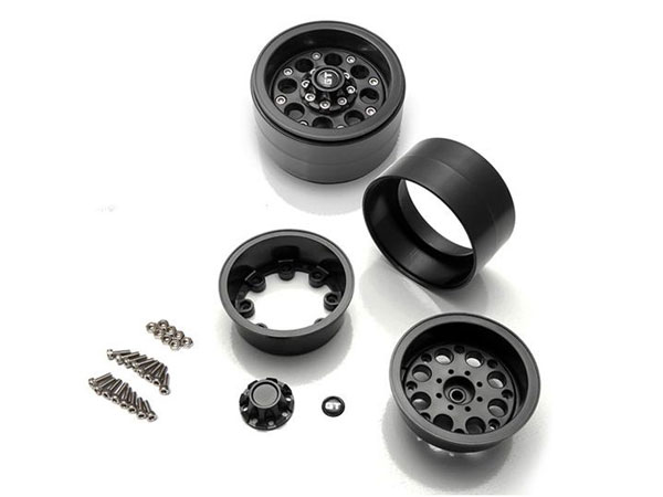 GMade GT02 2.2 Beadlock Wheels - Black (2) GM70234