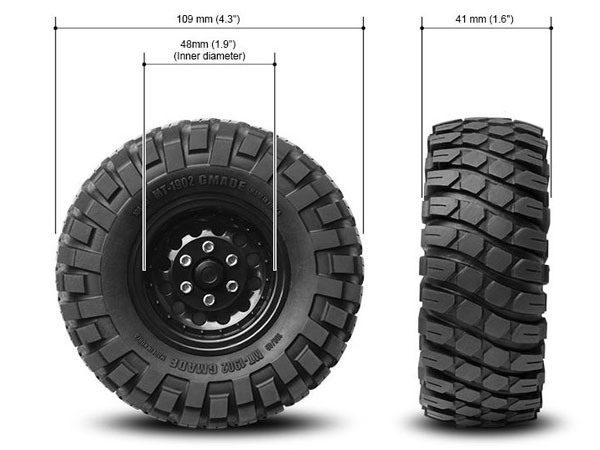 GMade MT1902 1.9 Off-Road Tyres (2) GM70244