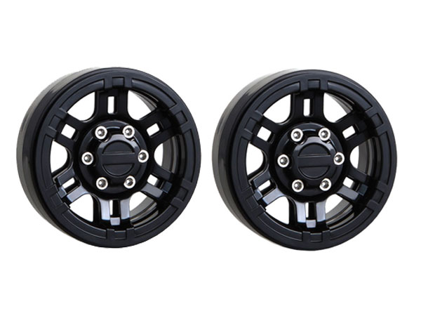 GMade 1.9 Nr02 Beadlock Wheels (Black) (2) GM70264