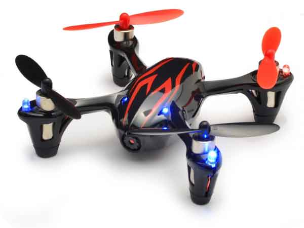 Hubsan X4 Camera Edition Mini Quad Copter (Black-Red)