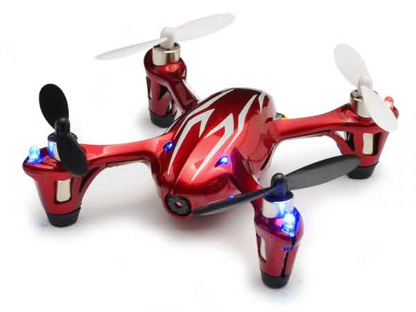Hubsan X4 LED Mini Quad Copter RTF with HD Camera Recording (Red/Silver)