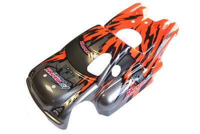 HoBao Hyper Mini ST Pre-printed Bodyshell - Orange H11272R