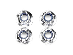 Image Of Hot Bodies Flanged Lock Nut 5mm (4pcs) (lightning Stadium)