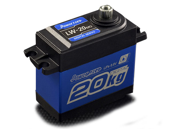 Power HD LW20 Waterproof High Torque Metal Gear Servo - Blue HD-LW-20MG