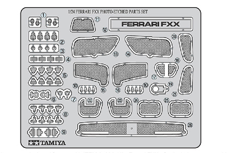 Tamiya 1/24 Ferrari FXX Photo Etched Part  12616