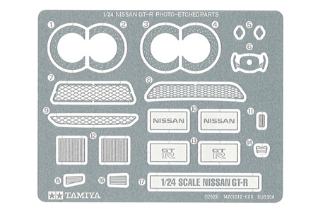 Tamiya Nissan GT-R Photo Etched Parts  12623