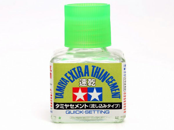 Image Of Tamiya Extra Thin Cement - 40ml (Quick Setting)
