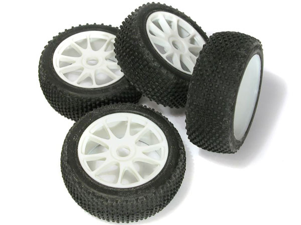 Image Of Kyosho 1:8th Tyres on Neo Wheels (White) x 4
