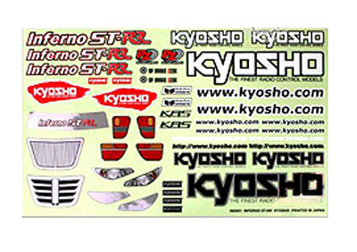 Kyosho Decal Sheet - Inferno ST-RR ISD051