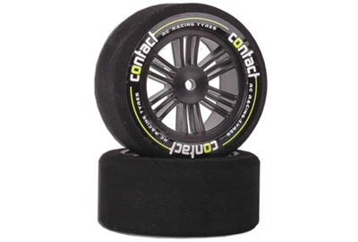 Contact RC Tyres Foam; 1/10 26mm 32Sh JAP Carbon J13273