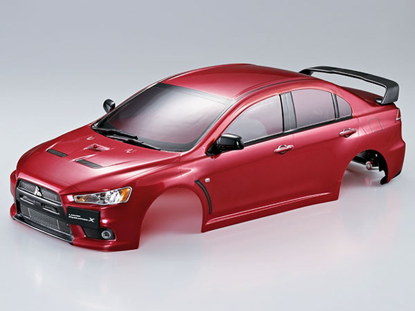 Killer Body Mitsubishi Lancer Evo X 190mm Iron-Oxide-Red Ready to Use KB48003