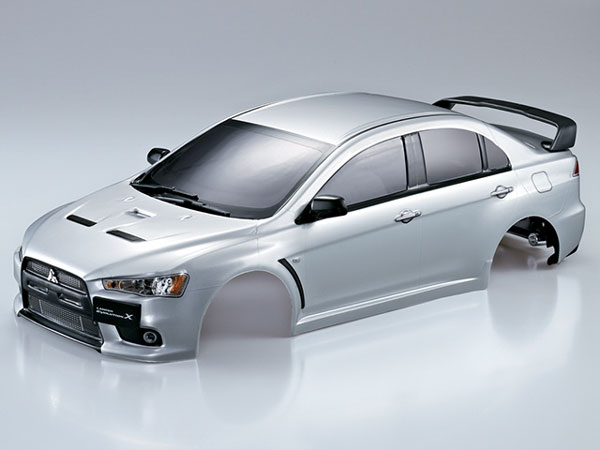Killer Body Mitsubishi Lancer Evo X 190mm Silver Ready to use KB48004
