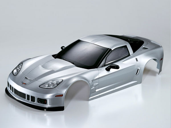 Killer Body Corvette Gt2 1/7 Silver Ready to Use KB48085