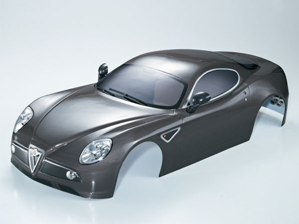 Killer Body Alfa Romeo 8c 1/7 Silver-Grey Ready to Use KB48095