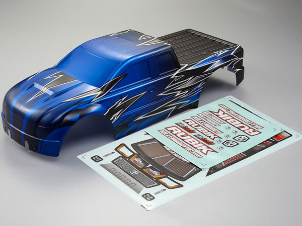Killer Body Rubik 1/10 Electric Moster Truck Pre Painted Knight Blue Bodyshell KB48213