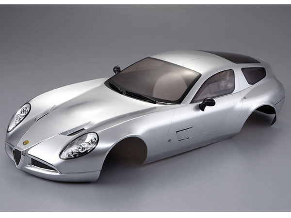 Killer Body Alfa Romeo Tz3 Corsa Silver Ready to Use KB48301