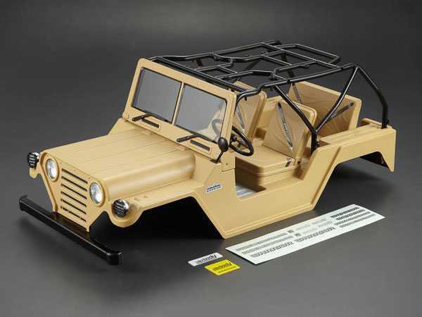 Killer Body 1/10 Crawler Warrior Military Desert All-in Ready to Use (Willys Jeep Style) KB48447