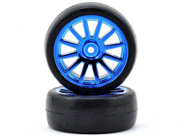 LaTrax Rally Blue Wheels, Slick Tires 7573R