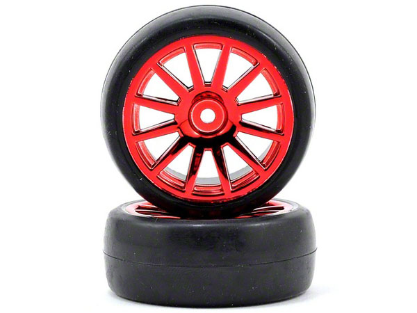Latrax Rally Red Wheels, Slick Tires 7573X