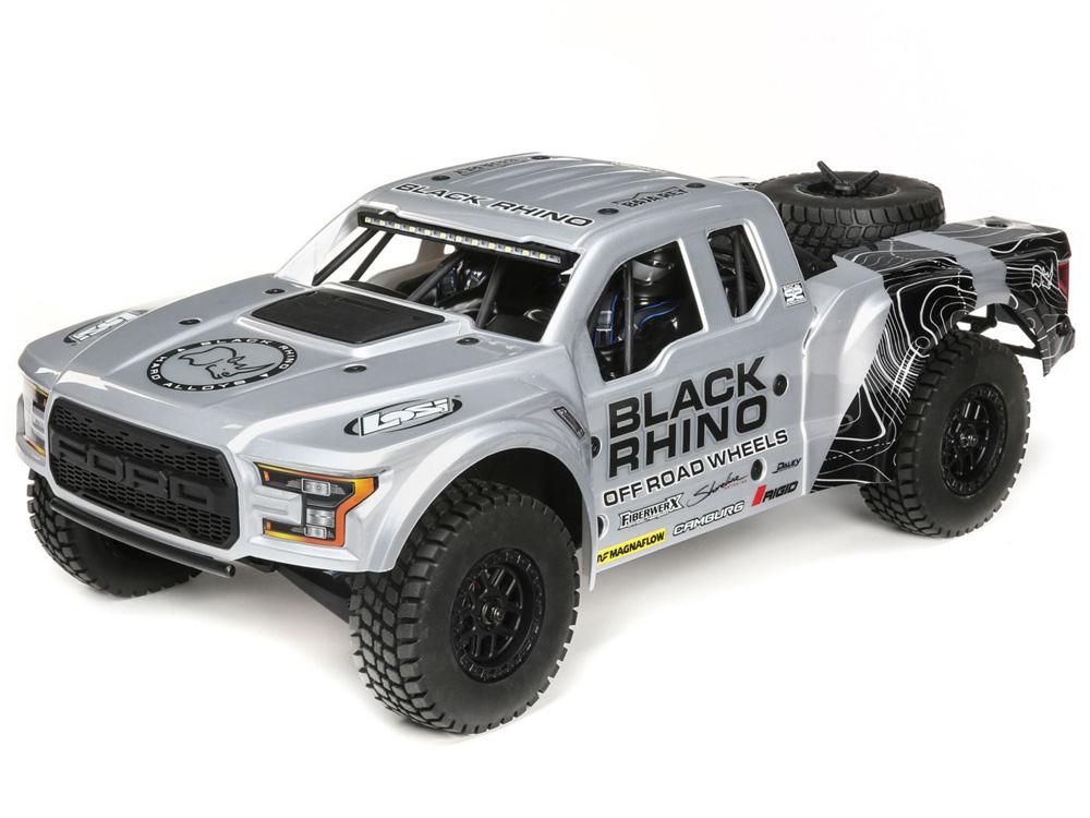 Losi 1/10 Ford Raptor Baja Rey 4WD Desert Truck Brushless RTR - Black Rhino  LOS03020T2