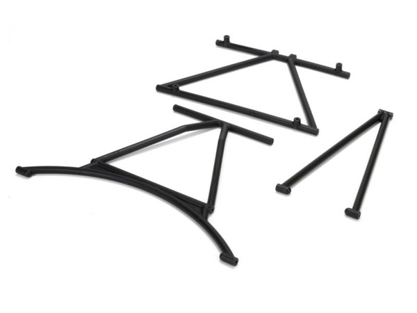 Losi 5ive-R Mini WRC Front and Rear Cage Supports and Roof Cross Bar LOS251004