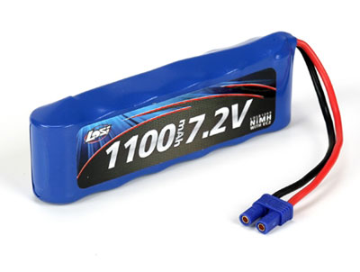Losi 7.2V 1100mAh NiMh Battery with EC2 Connector LOSB1209