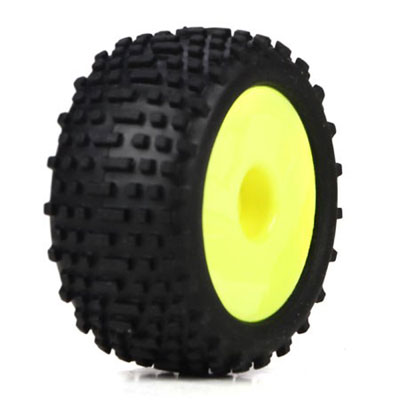 Losi Micro Truggy Yellow Wheel & Tyre Set LOSB1568