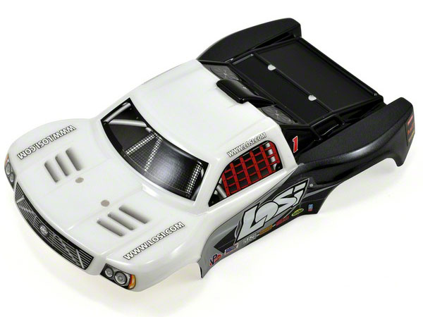 Losi 1/24 4WD Short Course Painted Body - White LOSB1782