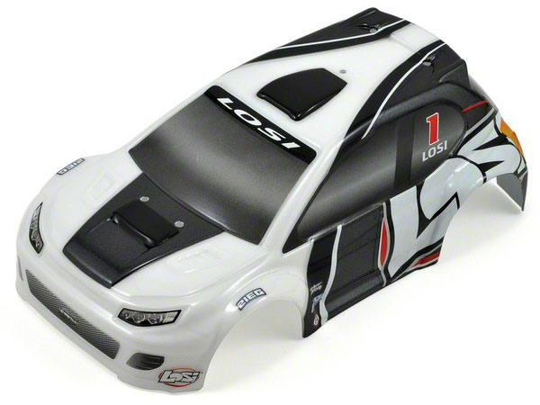 Losi 1/24 4WD Rally Painted Body Grey LOSB1786