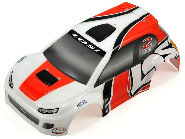 Losi /24 4WD Rally Painted Body Orange LOSB1787