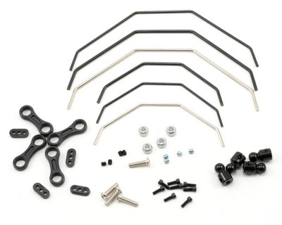 Losi Ten-T Front and Rear Sway Bar Kit LOSB2222