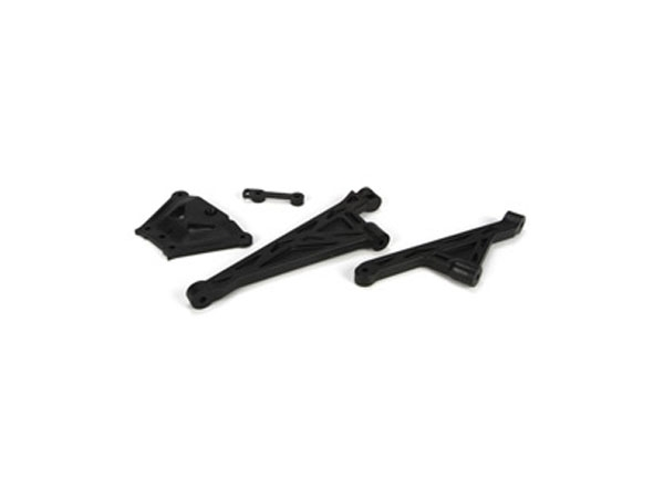 Losi 5ive-T Front and Rear Chassis Brace & Spacer Set LOSB2558