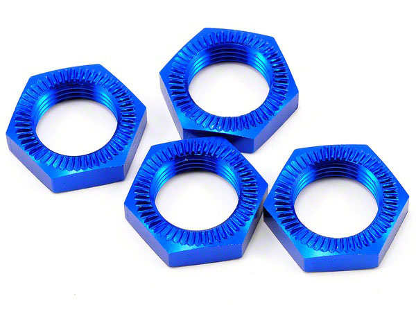 Image Of Losi 5ive-T Blue Anodised Wheel Nuts (4)