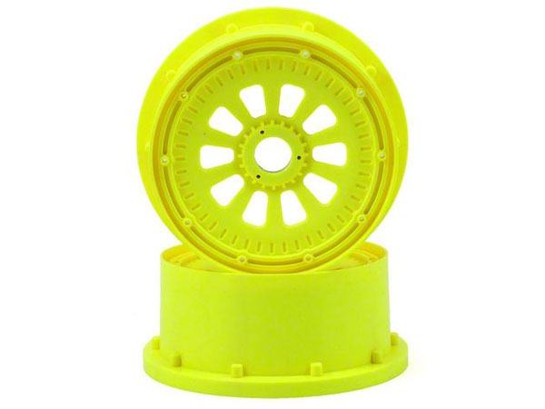 Losi 5ive-T Fluorescent Yellow Wheel and Beadlock Set (2) LOSB7035