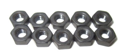 Image Of LRP M3 Nut black (10pcs) - S10 Twister