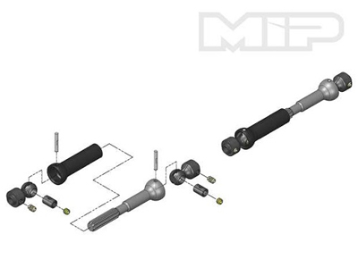 MIP Spline Center CVD Kit/Axial SCX10 MP10145