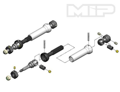 MIP X-DUTY CVD Keyed Front Axle Kit/Traxxas MP11110