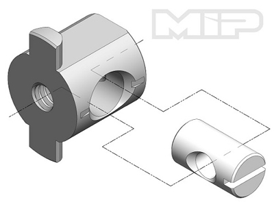 MIP Machined T-Nut, .250 Bore MP15010