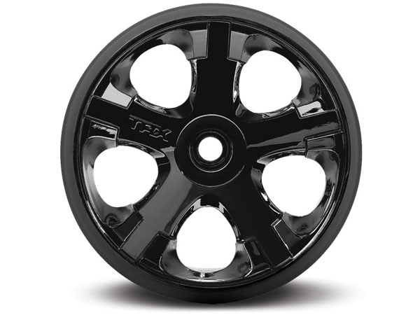 Traxxas Wheels, All-Star 2.8 (Black Chrome) (2) 5577A