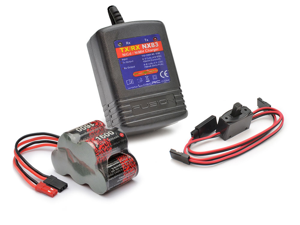 Modelsport Uk 6v Receiver Battery And Charger Pack Hump