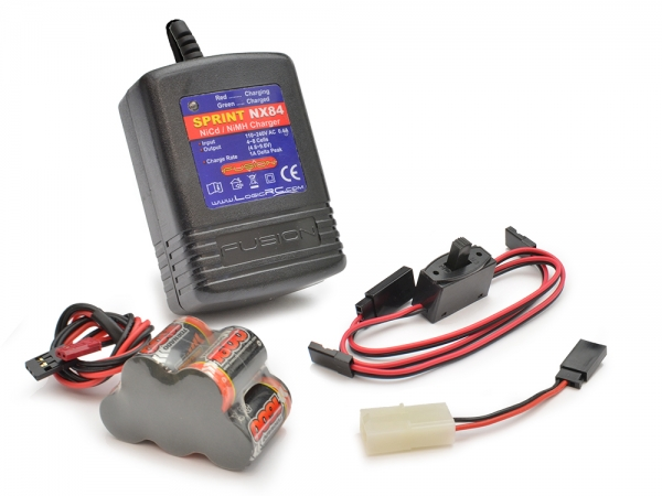 Image Of Modelsport UK 6v Receiver Battery and Quick Charger Pack (Hump Pack)