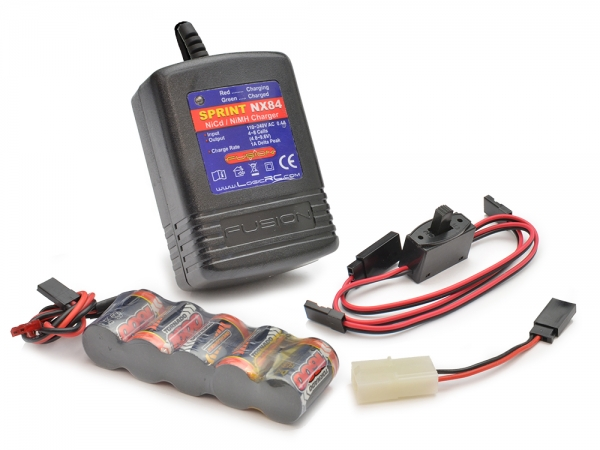 Image Of Modelsport UK 6v Receiver Battery and Quick Charger Pack (Stick Pack)