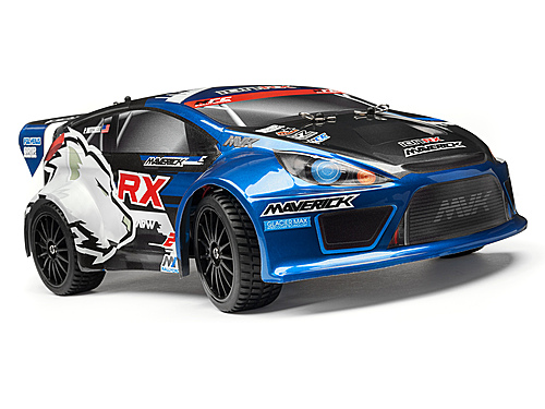 Image Of Maverick Rally Painted Body Blue With Decals (ion Rx)