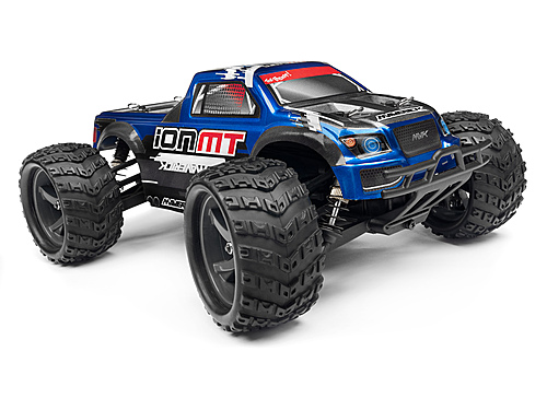 Maverick Monster Truck Painted Body Blue With Decals Ion Mt MV28068
