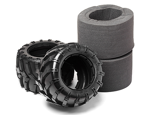 Image Of Maverick Tyres W/inserts 2 Pcs (blackout Mt)